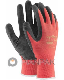 Rękawice ochronne OX-LATEKS – czerwono-czarne