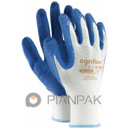 Rękawice ochronne OX-LATEKS – biało-niebieskie