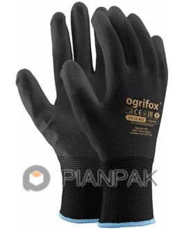 Rękawice ochronne OX-POLIUR – czarno-czarne