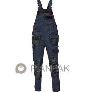 Spodnie ogrodniczki DAYBORO – granatowo-czarne