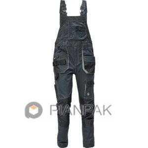 Spodnie ogrodniczki DAYBORO – szaro-czarne