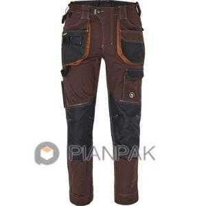 Spodnie robocze DAYBORO – czarno-brązowe