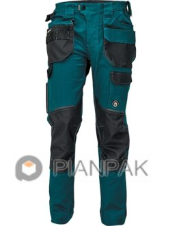 Spodnie robocze DAYBORO – ciemnozielono-czarne