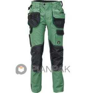 Spodnie robocze DAYBORO – oliwkowo-czarne